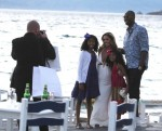 Family Photo Kobe Bryant and wife Vanessa pose for photos with daughters Natalia and Gianna in Greece