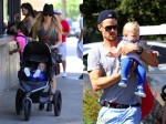 Fergie & Josh Duhamel with son Axl at the LA Zoo