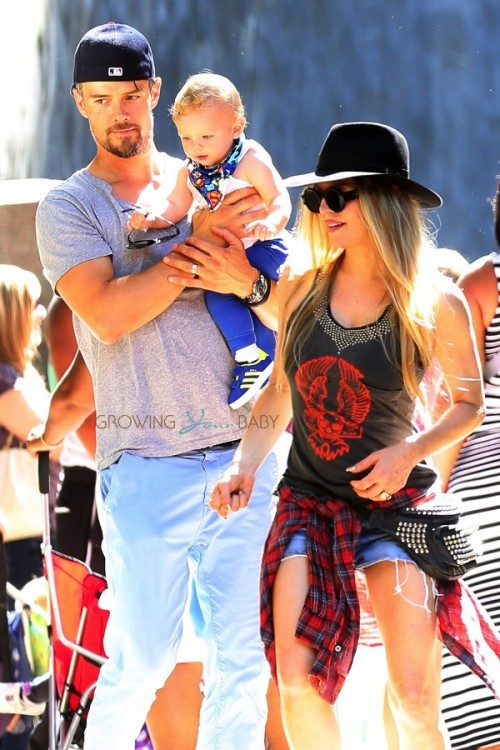 Fergie and Josh Duhamel with son Axl at the LA Zoo