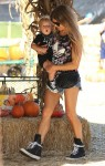 Fergie at Mr. Bones Pumpkin Patch in LA with son Axl Duhamel