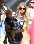 Fergie at Mr. Bones Pumpkin Patch with son Axl Duhamel