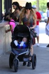 Fergie with son Axl at the LA Zoo