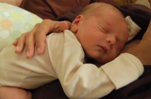 Finnegan Born-Crow as an infant