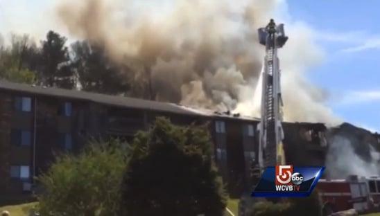 Fire blazes through Christina Simoes Apartment building