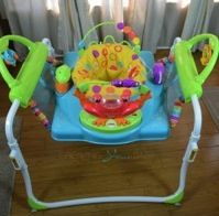 Babies Can Bounce, Play and Toddle in The Fisher-Price First Steps Step'N Play Jumperoo {VIDEO}