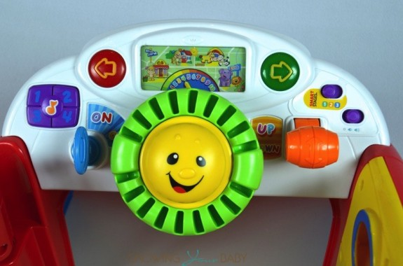 Fisher-Price Smart Stages Crawl Around Car  - dashboard
