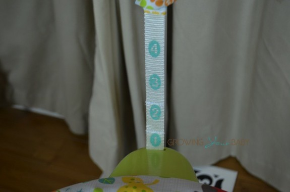Fisher-Price Woodland Friends Space Saver Jumperoo - height adjustments