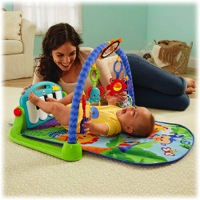 Featured Review ~ Fisher-Price's Kick N Play Piano Gym {VIDEO}