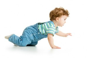 crawling baby isolated