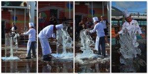 Freedom of the Seas- Ice Carving demo