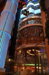 Freedom of the Seas - elevator banks