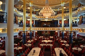 Freedom of the Seas - main dining room back to front