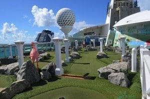 Freedom of the Seas mini golf course