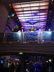 Freedom of the Seas - shrek and fiona dancing in the promenade