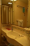 Freedom of the Seas - standard balcony cabin bathroom