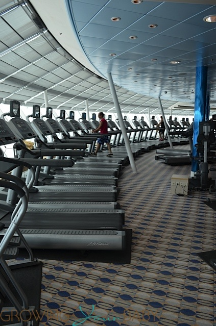 Freedom of the Seas - treadmills