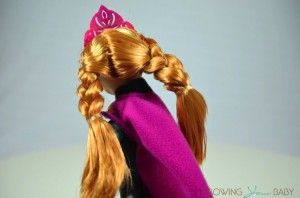 Frozen Skating Anna Doll - hair