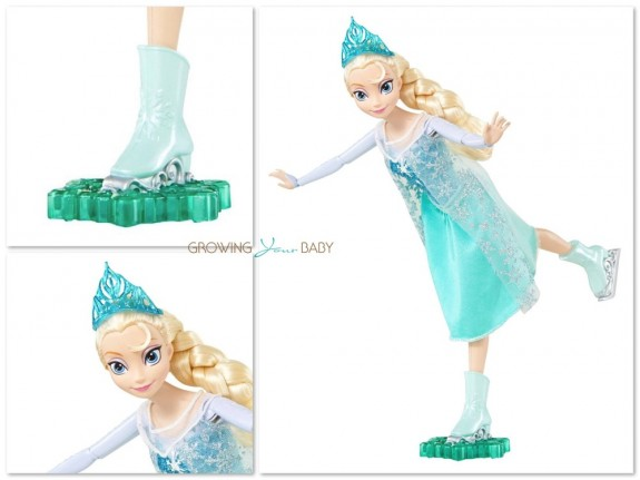Frozen ice skating Elsa Doll