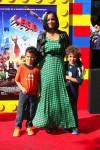 Garcelle Beauvais with son Jax and Jaid at the premiere of the LEGO Movie