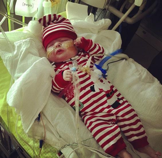 Garrett Peterson as an infant