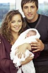 Gavin Henson & Charlotte Church with baby Ruby