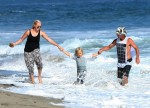 Gavin Rossdale at the beach with son Zuma