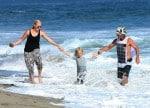 Gavin Rossdale at the beach with son Zuma