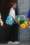 Gavin Rossdale carries the bags after Joel Silver's Memorial Day Party