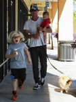 Gavin Rossdale out in LA with his sons Zuma and Apollo