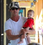 Gavin Rossdale out in LA with son Apollo