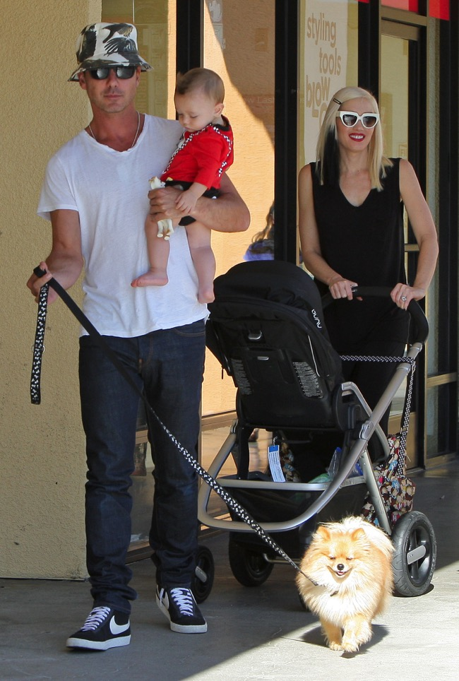 Gavin Rossdale Out In La With Son Apollo And Wife Gwen