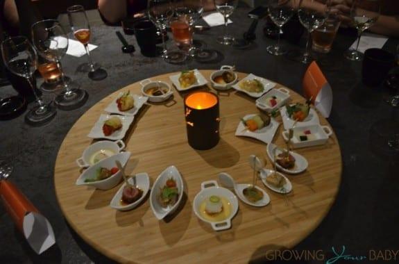 Generations Riviera Maya - asian restaurant sampling tray