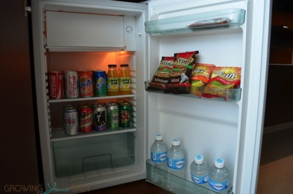 Generations Riviera Maya - oceanfront suite stocked mini fridge