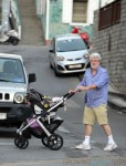 George Lucas out in St. Barts with his daughter Everest