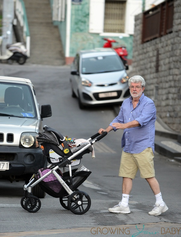George Lucas Out In St Barts With His Daughter Everest