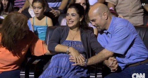 Gerardo Hernandez with wife Adriana Perez