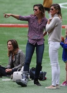 Gisele Bundchen and Bridget Moynahan watch son John's soccer game together