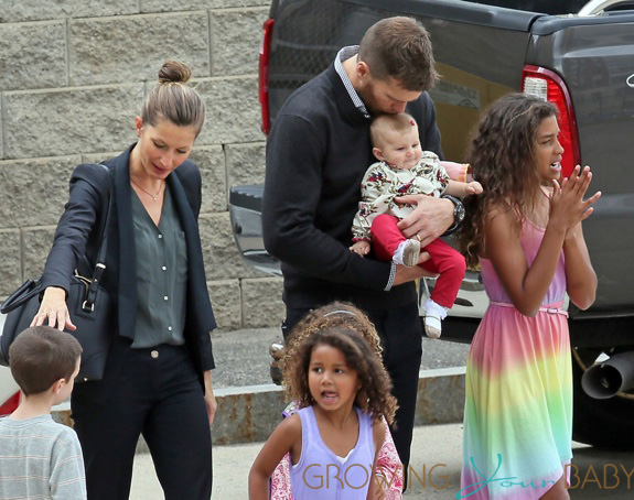 Gisele Bundchen, Tom Brady and family attend Tom's sister's college graduation in Boston