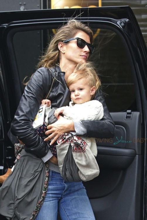 Gisele Bundchen and daughter Vivian Brady at Chanel commercial shoot