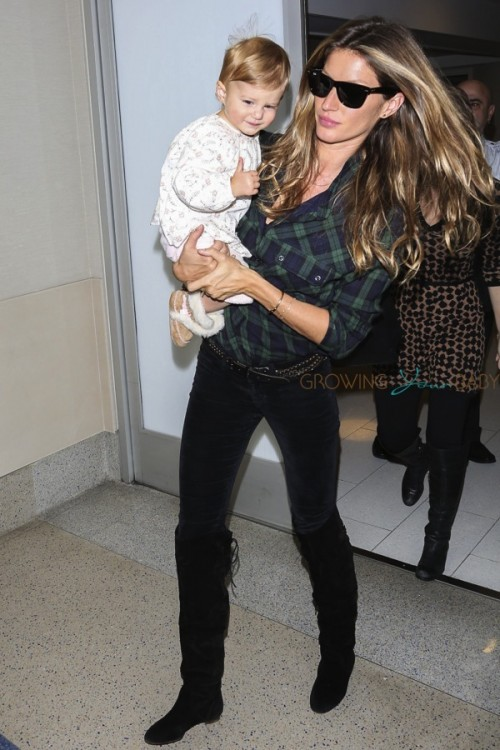 Gisele Bundchen and daughter Vivian Lake Brady at LAX
