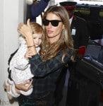 Gisele Bundchen and daughter Vivian Lake Brady at LAX