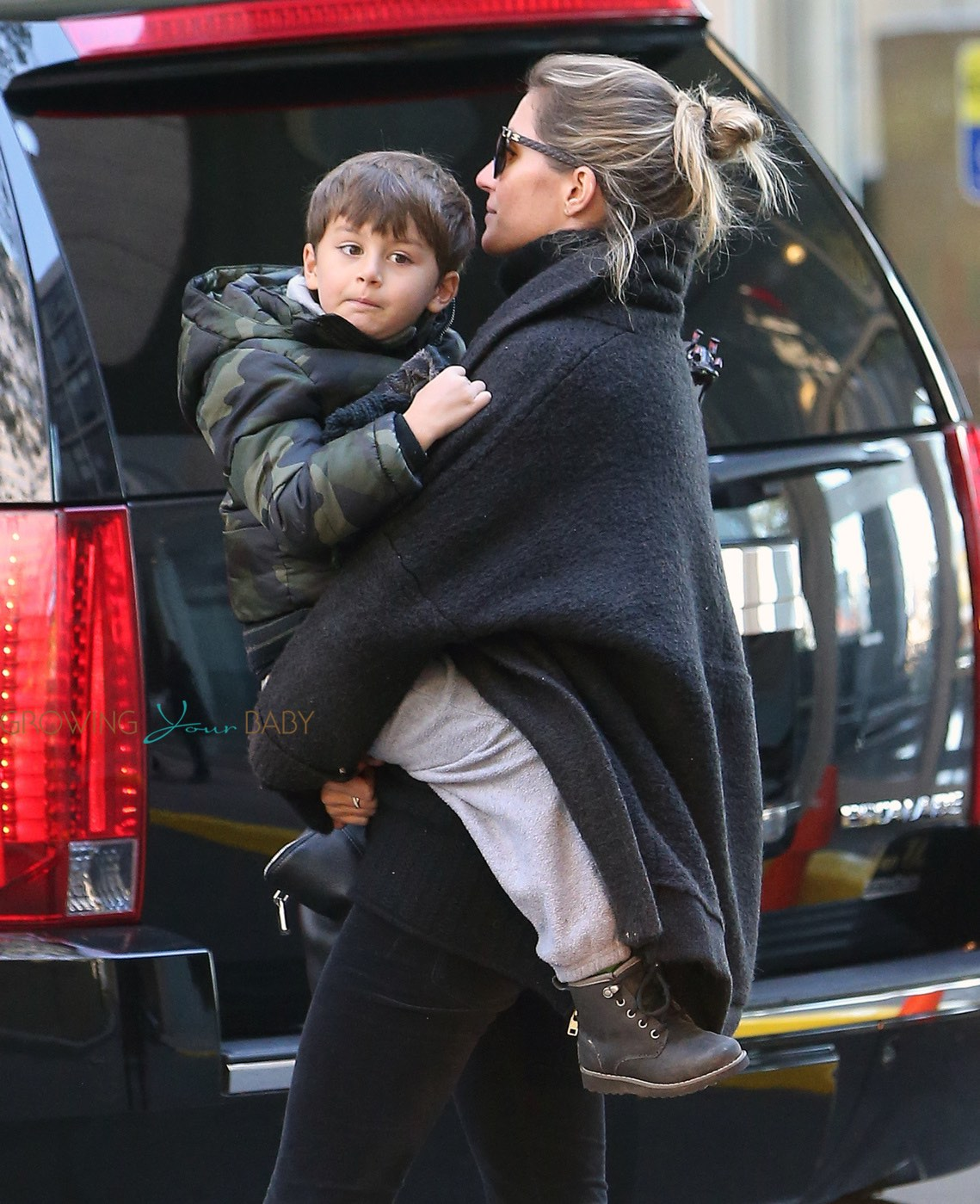 EXCLUSIVE: Gisele Bundchen and son Benjamin meet up with ...