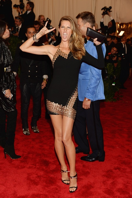 Gisele Bundchen at the 2013 Met Gala at the Metropolitan Museum of Art