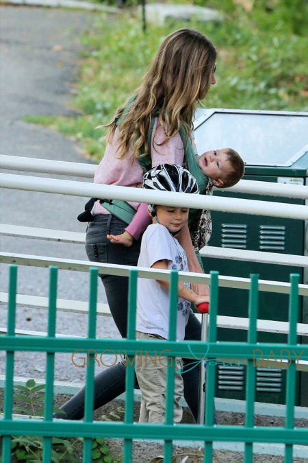 Photo of Gisele Bündchen & her Son  Benjamin Brady