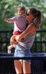 Gisele Bundchen at the park with her daughter Vivian Brady