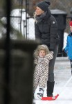 Exclusive: Gisele Bundchen and daughter Vivian have a skating lesson on a very cold Boston Morning