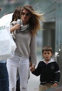 Gisele Bundchen takes stepson  John  to soccer game