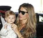 Gisele Bundchen with daughter Vivian Lake Brady at LAX