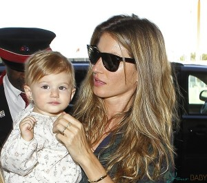 Gisele Bundchen with daughter Vivian Lake Brady at LAX