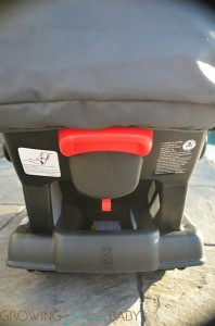 Graco Click Connect Infant Car Seat - back of seat
